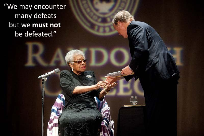 Poet Angelou at Randolph College