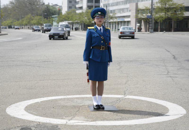 North Korean Traffic Guard