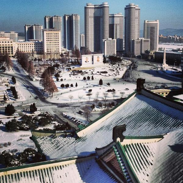 Pyongyang In The Snow
