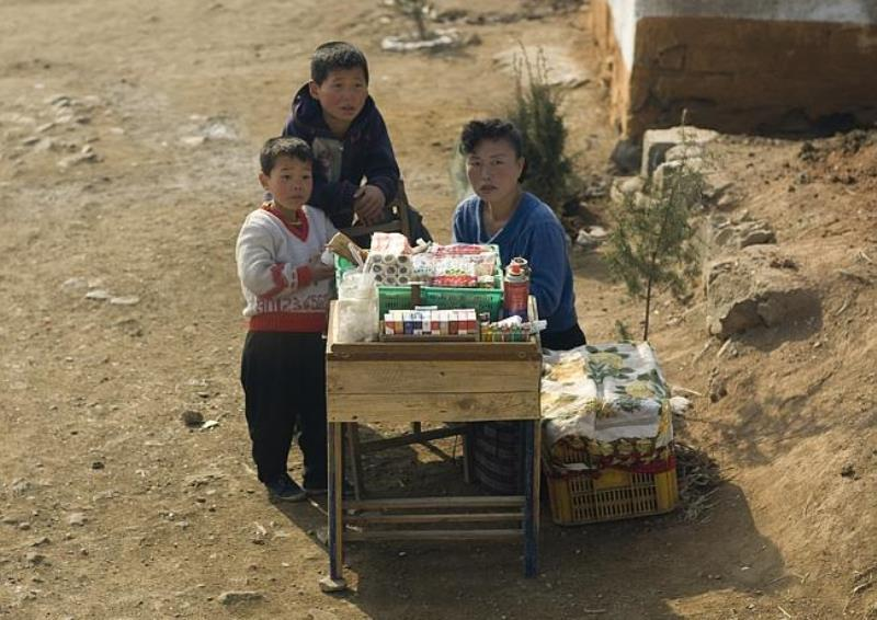 Roadside Store In North Korea