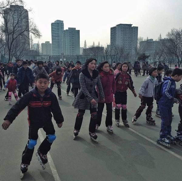 Rollerblading In North Korea