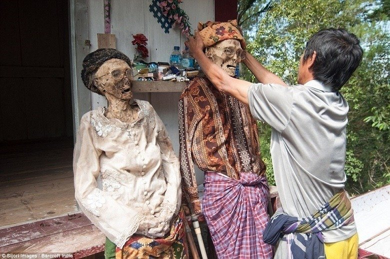 Toraja Corpses Dressed Up