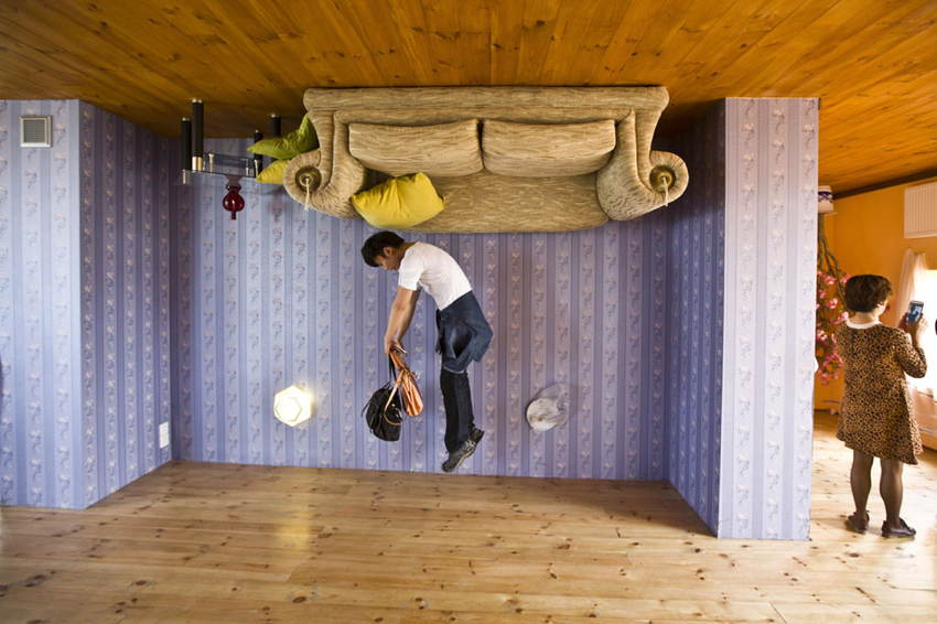 Upside Down Houses Jumping