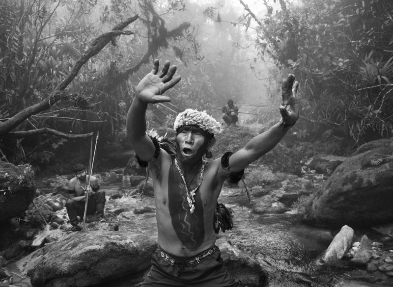 Yanomami Tribe Man Chanting