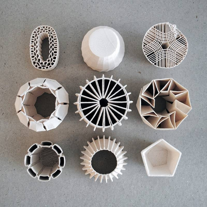 Ceramic Pieces from 3D Printer