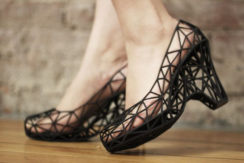 High Heeled Shoes From Printer