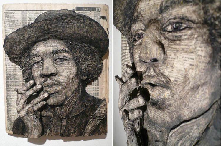 Jimi Hendrix Phonebook Art