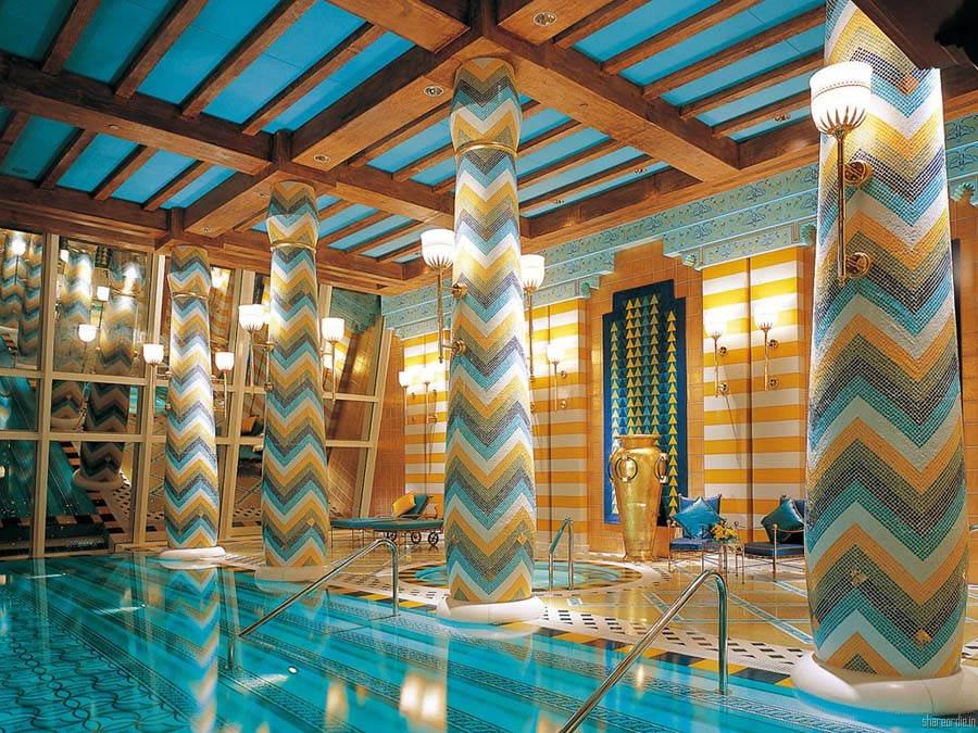 Amazing Pools Part - 35: Burj Al Arab Indoor Pool