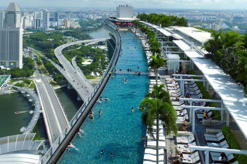 Amazing Pools Marina Bay Aerial