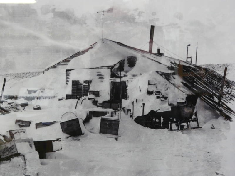 Antarctic Exploration Covered Shelter