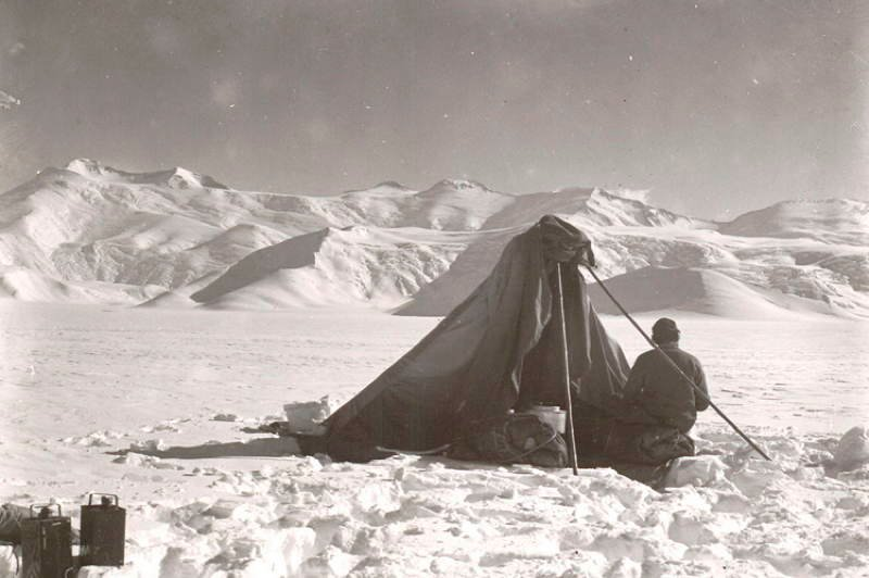 Antarctic Exploration Makeshift Tent