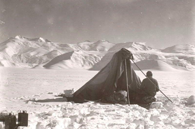 Antarctic Exploration Makeshift Tent