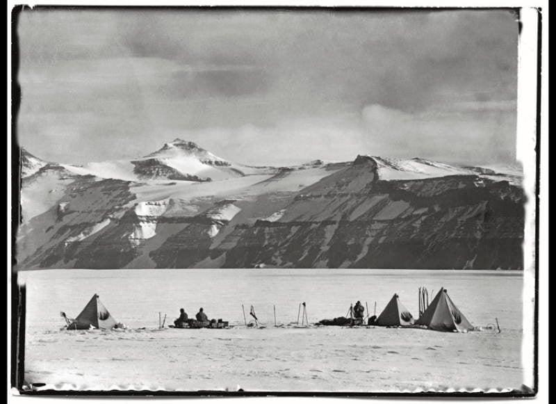 Antarctic Exploration Mountain Face