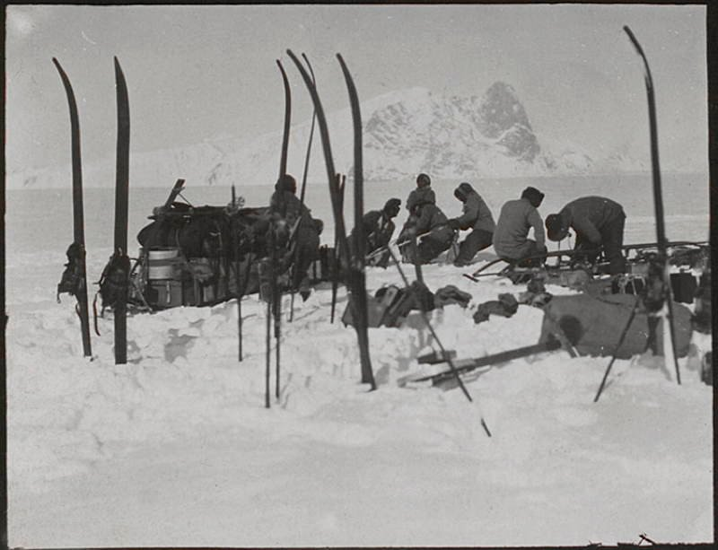 Antarctic Exploration Snow Skis