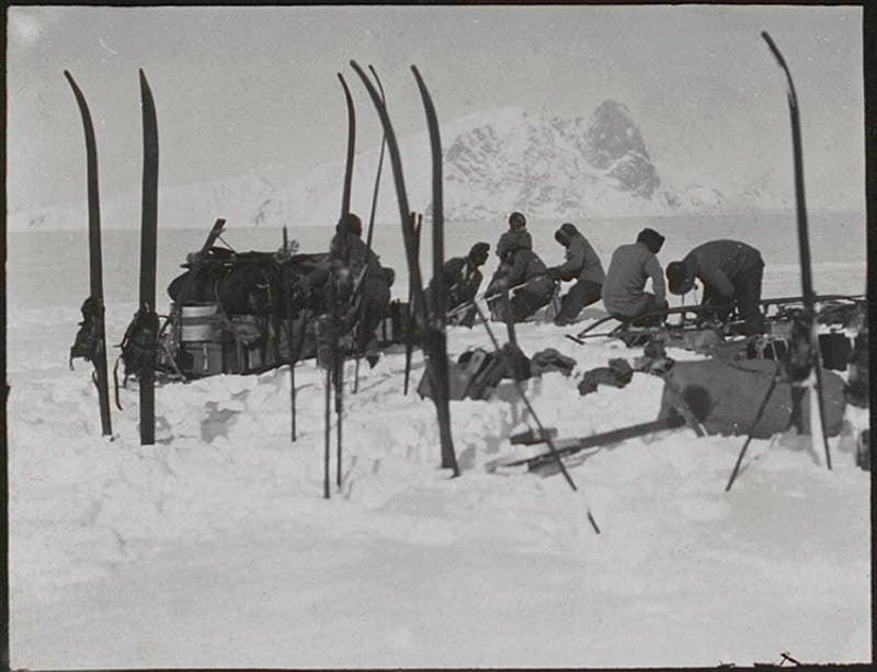 Antarctic Exploration Snow Skis