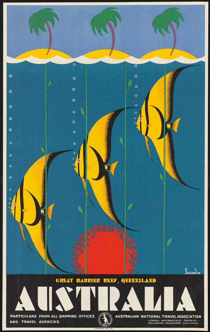 Vintage Travel Poster For Australia