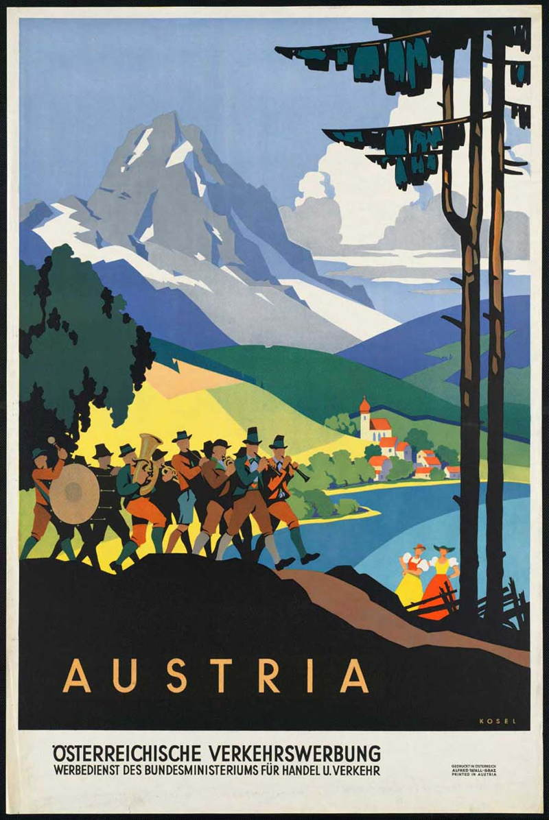 Vintage Travel Posters Austria