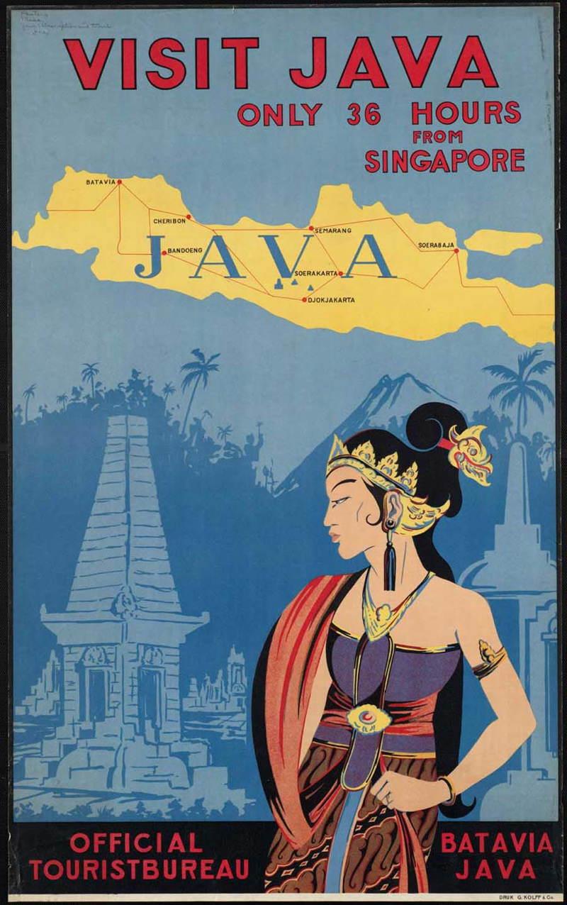 Vintage Travel Posters Java