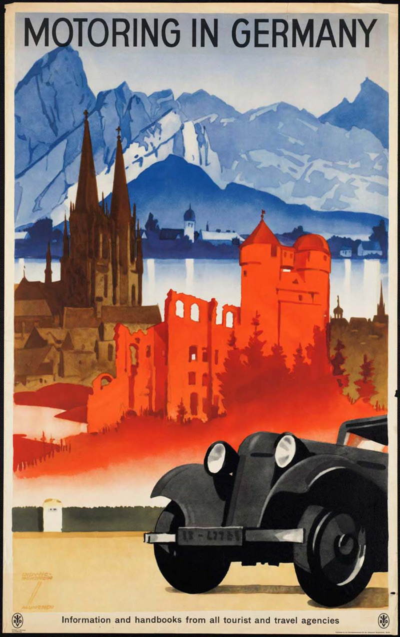 Vintage Travel Posters Germany Motoring
