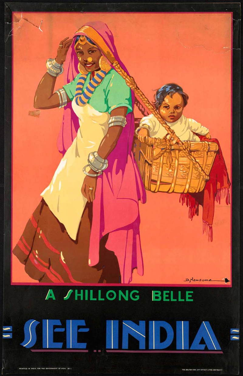 Vintage Travel Posters India Baby