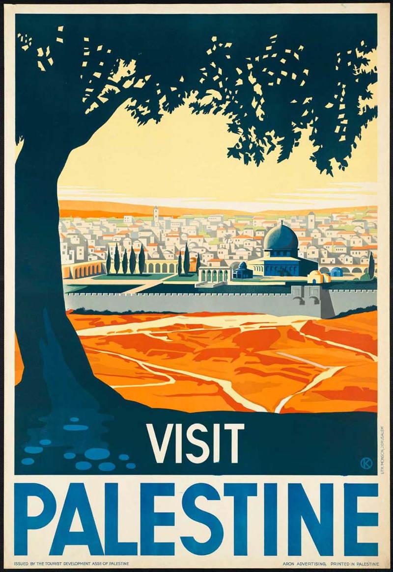 Vintage Travel Posters Palestine