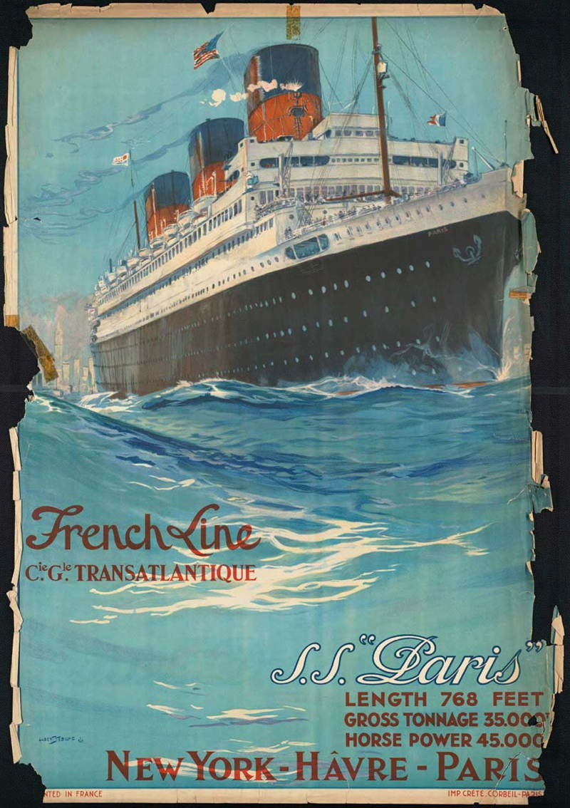 Vintage Travel Posters French Line