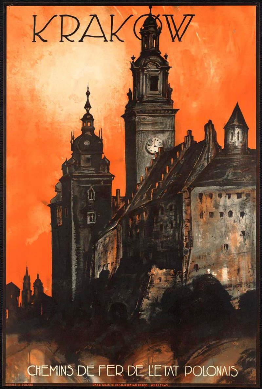 Vintage Travel Posters Krakow