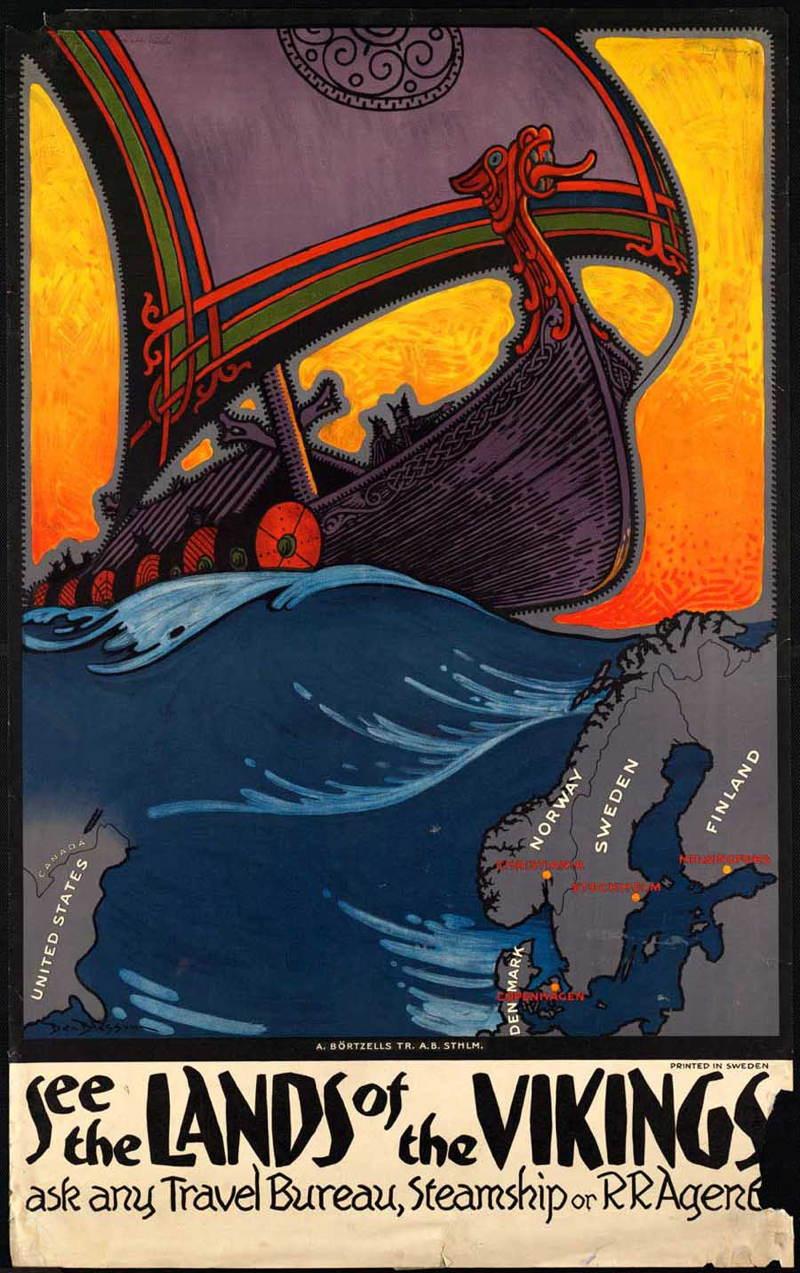 Vintage Travel Posters Vikings