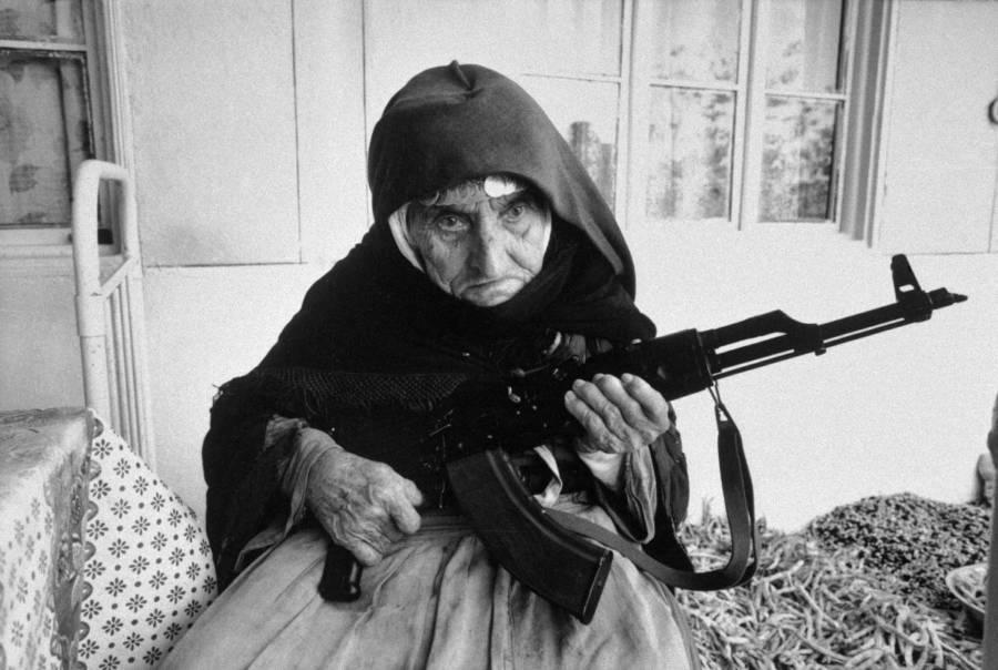 Armenian Woman Gun