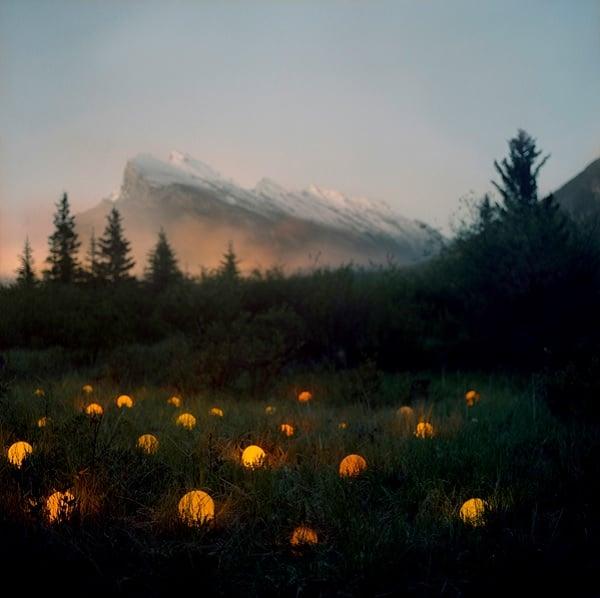 Orange Abstract Light Landscapes