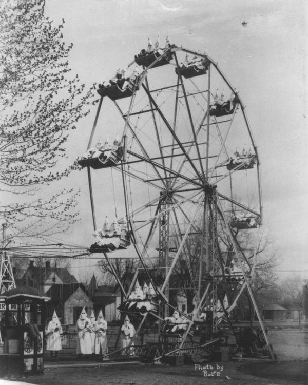 Bizarre Photos History Kkk Ferris Wheel