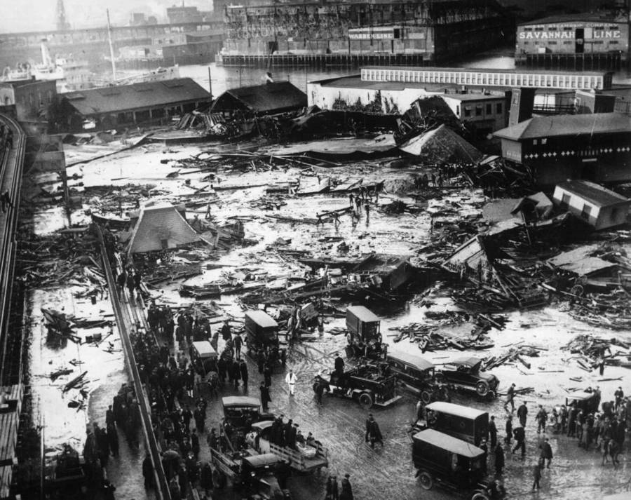 Bizarre Photos History Molasses Flood