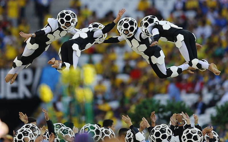 Brazil World Cup Jumping Players