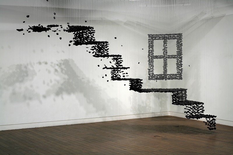 Charcoal Installations Stairs