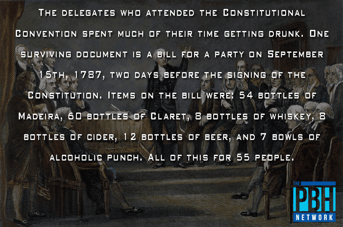 Drinking At The Constitutional Convention