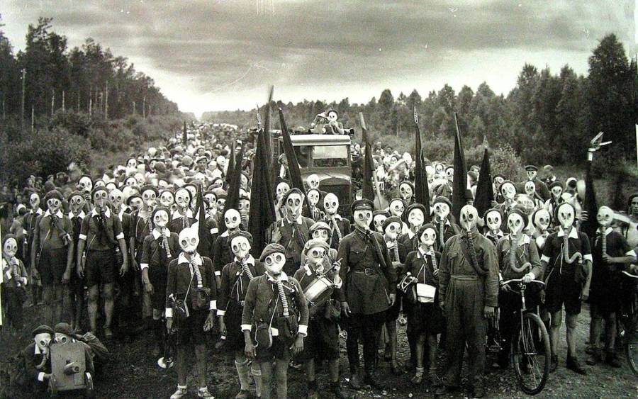Gas Mask Crowd