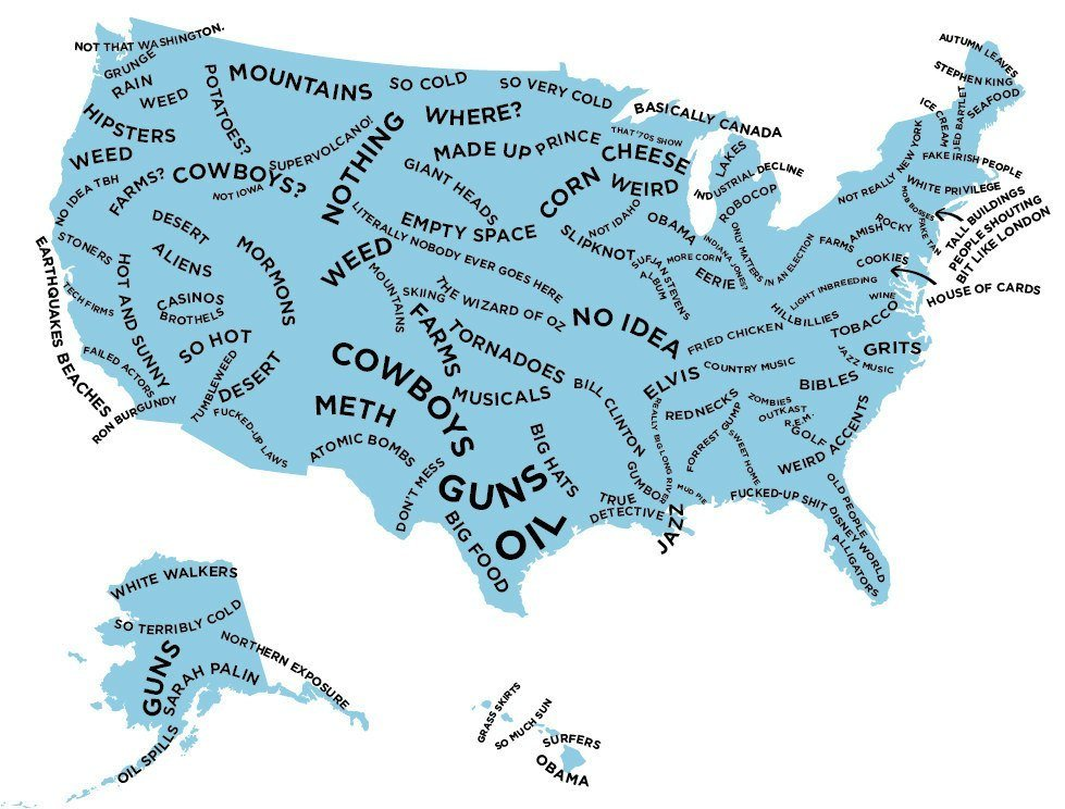 How British People See Each US State