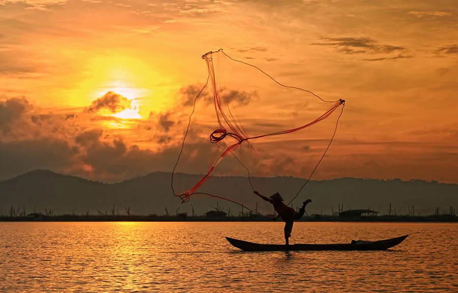 Indonesia Village Fishing