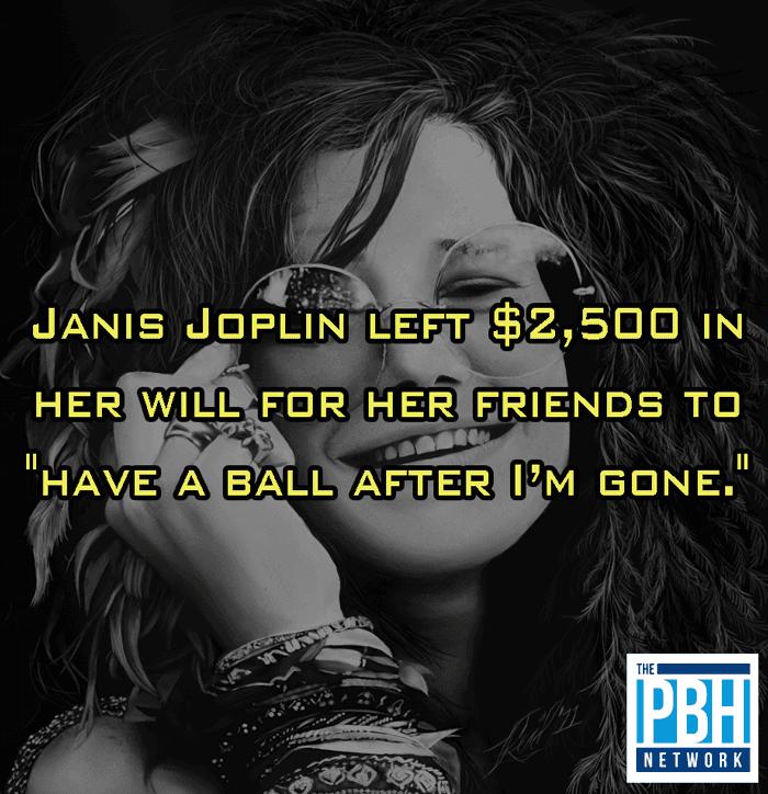 Janis Joplin's Will For Her Friends