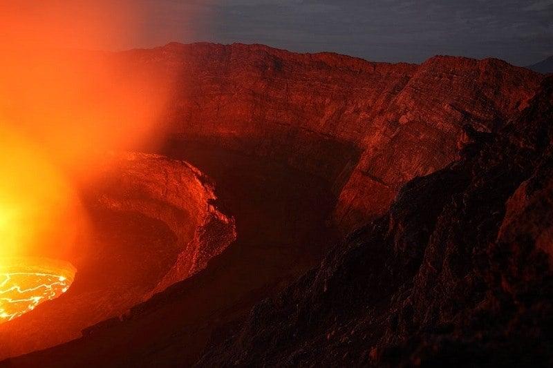 Active Volcano Erupts