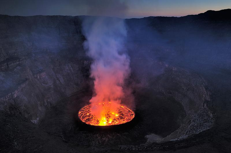 Crater of Mount Nyiragongo