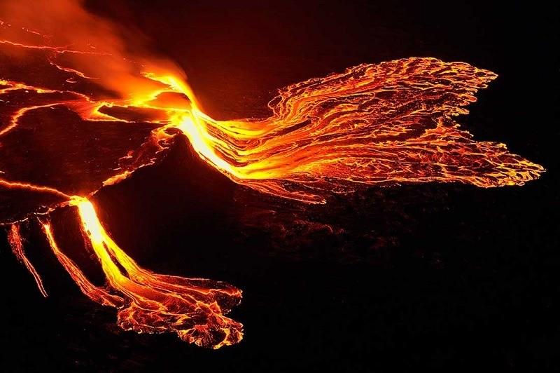 Mount Nyiragongo Flowing Lava