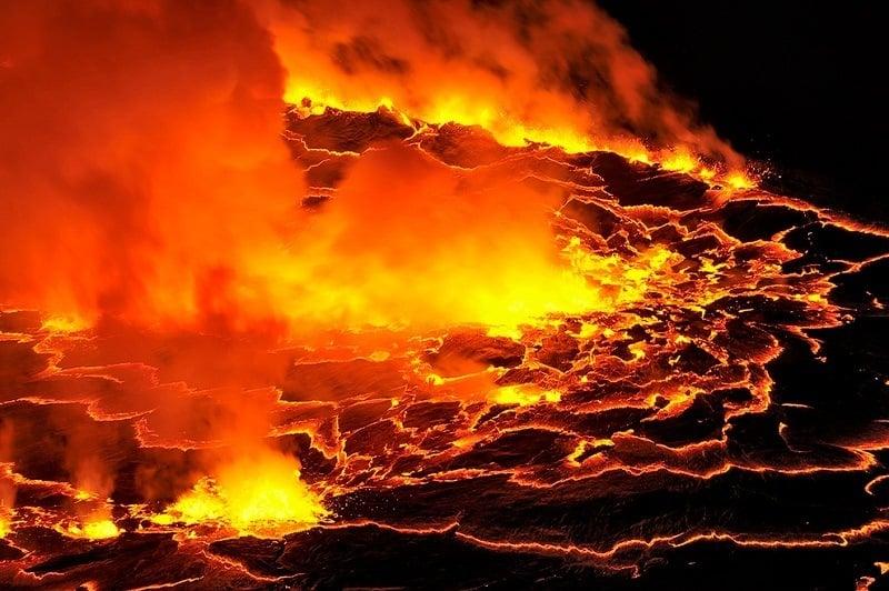 Lava Up Close