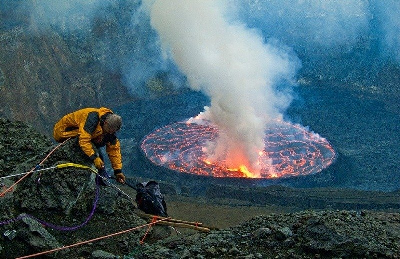 Scientists Observe Volcano