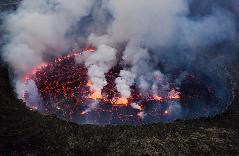 Active Volcano Smoking