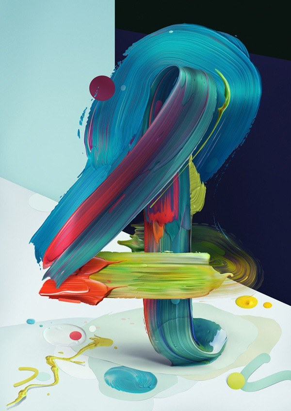 Painted Typography Number 4