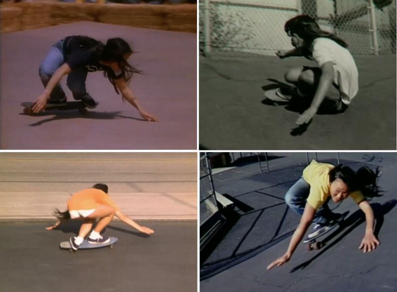 Peggy Oki Skateboarding