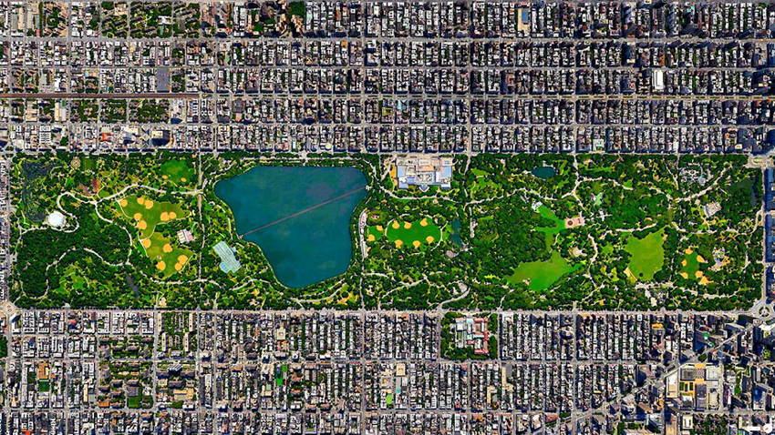 Satellite Photos Central Park