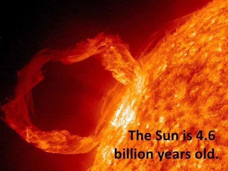 Sun Facts Age of Sun