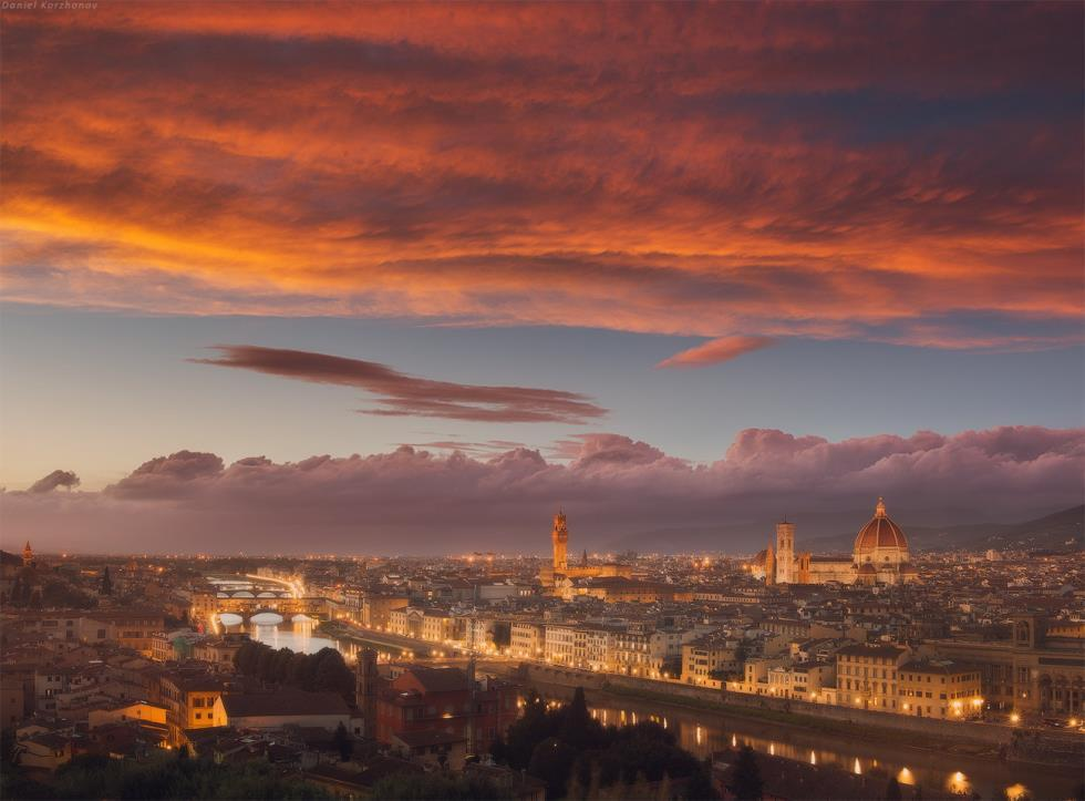 Sunset Over Florence Italy